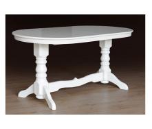 Кухонный стол Говерла №2 раздвижной 1200-1600х800х750 мм деревянный слоновая кость