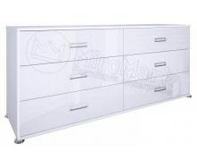 Комод Белла 6Ш белый глянец Миро-Марк