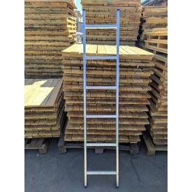 Односекционная алюминиевая приставная лестница на 6 ступеней (универсальная)