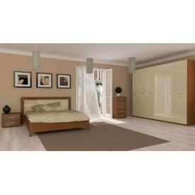 Спальня Белла 6Д ваниль глянец + вишня бюзум Миро-Марк