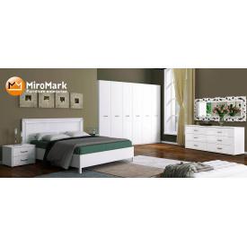 Спальня Белла 6Д белый глянец Миро-Марк