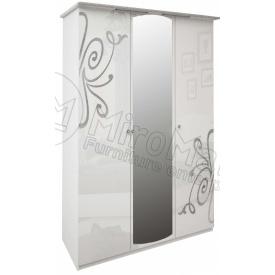 Шкаф Богема 3Д белый глянец Миро-Марк