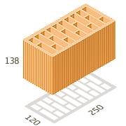 Блоки керамічний  2,12 НФ М100 250*120*138