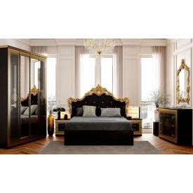 Спальня Дженіфер 4Д чорний глянець Миро-Марк