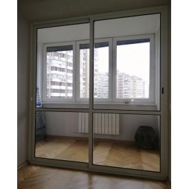 Раздвижные двери на балкон Alutech ALT 100 алюминиевые