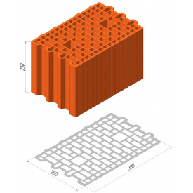 Блок Теплокерам 11,6 НФ (380x250x230)