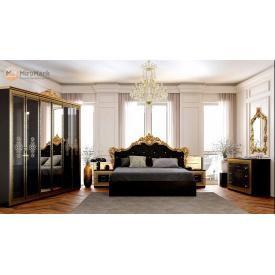 Спальня Дженіфер 6Д чорний глянець Миро-Марк
