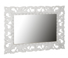 Зеркало Империя 100х80 белый глянец Миро-Марк