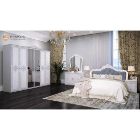 Спальня Луиза 6Д белый глянец Миро-Марк