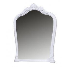 Зеркало Луиза с короной белый глянец Миро-Марк