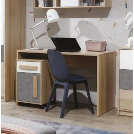 Стол письменный Айго Сокме 120х75х60 см бук песочный/белый/пальтро
