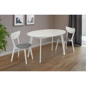 Стол обеденный Космо Микс Мебель 137х90 см белый