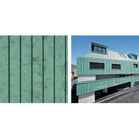 алюминий кровельный в рулонах Prefa PREFALZ патина зеленая P.10 0.7мм