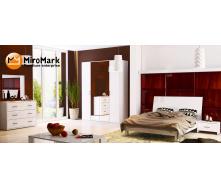 Спальня Рома 4Д белый глянец Миро-Марк