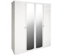 Шкаф Футура 4Д белый глянец Миро-Марк