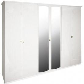 Шкаф Футура 6Д белый глянец Миро-Марк