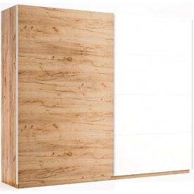 Шкаф-купе 2,5 м комбинированные двери дуб крафт + белый глянец Ники Миро-Марк