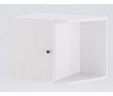 Антресоль Фемели угловое окончание белый глянец Миро-Марк
