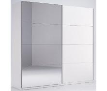 Шкаф-купе Фемели 1,5 белый глянец с зеркалом Миро-Марк