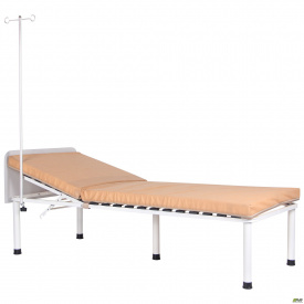 Ліжко медична Пульс 900x2000 мм зі штативом для огляду пацієнтів