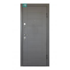 Вхідні двері Міністерство дверей ПБ-206 Венге сірий 860х2050 мм