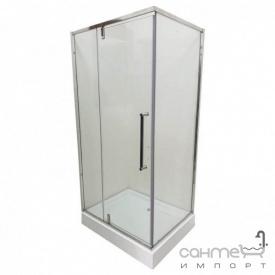Душевая кабина с поддоном Veronis KN-16-10 профиль хром, прозрачное стекло