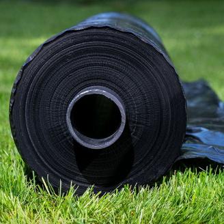 Черная пленка Планета Пластик стабилизированная для мульчирования ширина 3 м длина 100 м