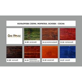 Морилка Oak House для всіх порід деревини на водній основі червона к_16