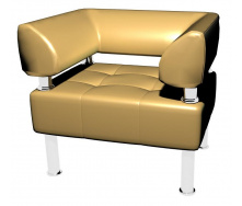 Мягкое кресло Тонус 800х700x600 мм бежевое