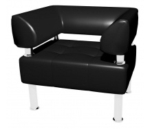 Офисное кресло Sentenzo Тонус одноместный 800x600х700 мм черное с подлокотниками