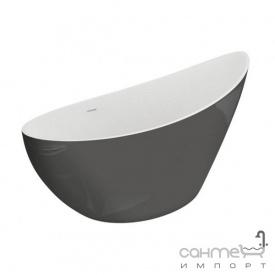 Овальная ванна Polimat Zoe 180х80 00407 серый пепельный