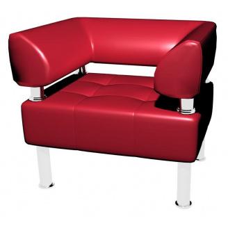 Офисное кресло Sentenzo Тонус одноместное 800x700х600 мм красное с подлокотниками