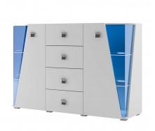 Комод Призма 2Д 4Ш белый Мир мебели