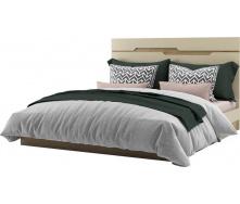 Кровать двуспальная Смарт 180 дуб артизан + крем Мир мебели