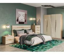 Спальня Смарт 4Д дуб Артізан + крем Світ меблів