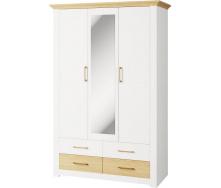 Шкаф Валерио 3Д 4Ш сосна водевиль + дуб каменный Мир мебели