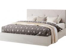 Кровать двуспальная Ромбо 160 аляска + белый Мир мебели