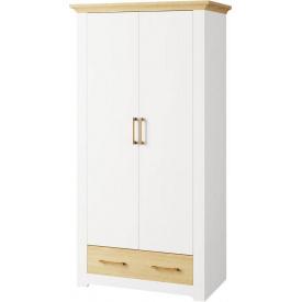 Шкаф Валерио 2Д 1Ш сосна водевиль + дуб каменный Мир мебели