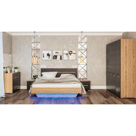 Спальня Б`янко 4Д дуб Артізан + графіт Світ меблів