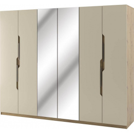 Шкаф Смарт 6Д дуб артизан + крем Мир мебели