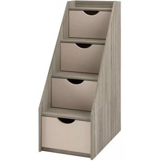 лестница-комод Савана Нью 4Ш дуб сонома Мир мебели