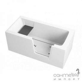 Акрилова ванна c скляними дверцятами Polimat Avo 140x70 00306 біла з передньої 00304 і бічний 00278 панеллю