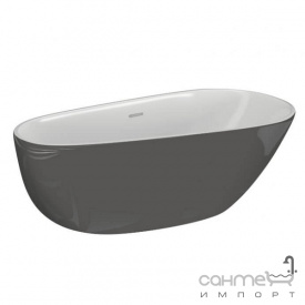 Отдельностоящая акрилова ванна Polimat Shila 170х85 00434 біла/рожева