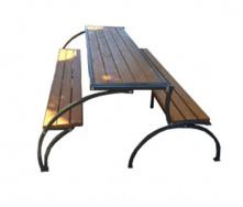 Скамейки-стол Трансформер на металлических ножках для сада