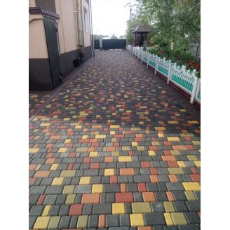 Тротуарная плитка Мега Брук Старый город h 60/40/25 мм