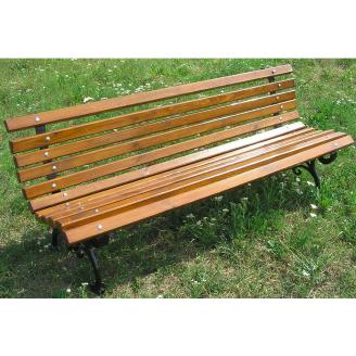Деревянная скамейка парковая 1800 мм на чугунных ножках