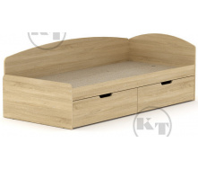 Ліжко -90 + 2С дуб Сонома Компаніт
