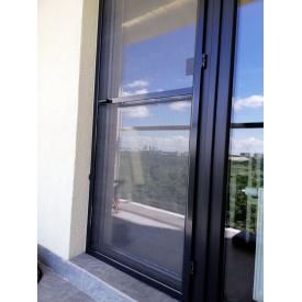 Дверная москитная сетка цвет графит алюминиевый профиль