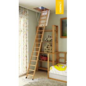 Чердачная лестница с термоизоляцией Bukwood Compact Long 120х70 см