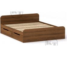 Ліжко з ящиками Віола 160х200 горіх Компаніт